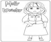 Molly Weasley dessin à colorier