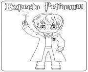 Harry Casting Spell dessin à colorier