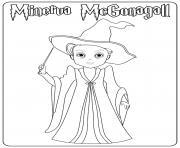 Minerva McGonagall dessin à colorier