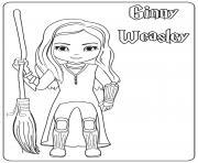 Ginny Weasley dessin à colorier
