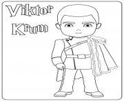 Viktor Krum dessin à colorier