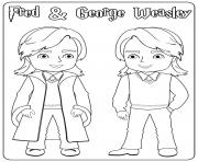 Fred and George Weasley dessin à colorier