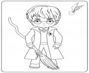 Harry With Broom dessin à colorier