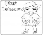 Fleur Delacour dessin à colorier
