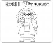 Sybill Trelawney dessin à colorier