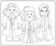 Hagrid Dumbledore and Snape dessin à colorier