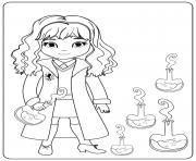 Hermione With Potions dessin à colorier