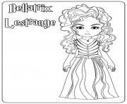 Bellatrix Lestrange dessin à colorier