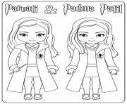Parvati and Padma Patil dessin à colorier