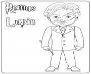 Remus Lupin dessin à colorier