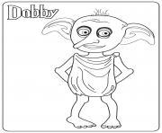 Dobby dessin à colorier