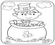 tradition irlandaise saint patrick dessin à colorier