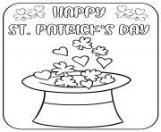 la saint patrick en irlande celebree durant cinq jours dessin à colorier
