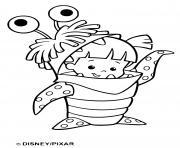 Coloriage monstres sont tres heureux dessin