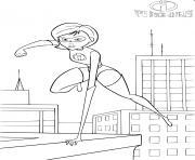 disney the incredibles mrs incredibles dessin à colorier