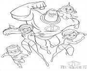 disney the incredibles indestructibles 2 dessin à colorier
