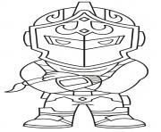 chevalier ultime dessin à colorier