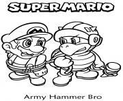 army hammer bro dessin à colorier