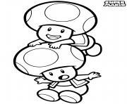 super mario mushroom people toad dessin à colorier