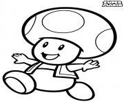 toad princess peachs attendant dessin à colorier