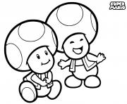 super mario toads dessin à colorier