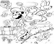 super mario bros world dessin à colorier