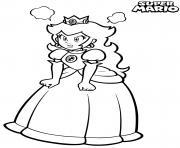 princesse peach enervee et fachee dessin à colorier