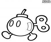 super mario bombette dessin à colorier
