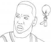 Coloriage Bugs Bunny Basketball dessin