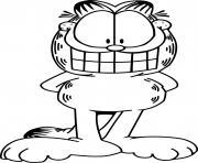 garfield le chat au grand sourire dessin à colorier