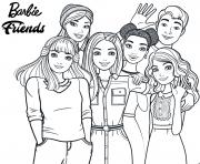 barbie friends les amis dessin à colorier