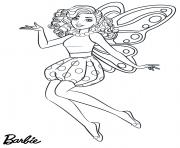 fairy fee barbie dessin à colorier
