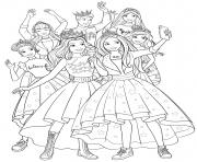 barbie princess adventure la famille royale dessin à colorier