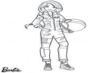 astronaute barbie spaceX dessin à colorier