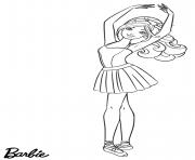 ballerina barbie danseuse outfit dessin à colorier