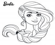 la belle chevelure de barbie dessin à colorier