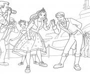 prince ken est tres galant avec barbie princesse dessin à colorier