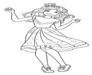 chelsea barbie princesse danse dessin à colorier