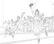 barbie princesse attrape la couronne de son prince dessin à colorier