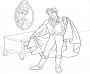 prince ken et son bel habit dessin à colorier