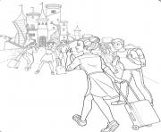les princesses barbies demenagent au royaume dessin à colorier
