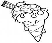 sorbet glace dessin à colorier