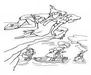 peter pan et wendy espionne un pirate dessin à colorier