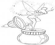 fee clochette magie disney dessin à colorier