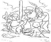 les enfants perdus jean darling avec un indien dessin à colorier