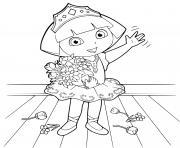 princesse dora balet dance classique dessin à colorier