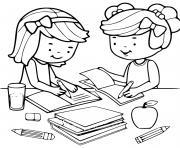 la rentree maternelle fourniture scolaire dessin à colorier