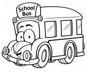 autobus scolaire maternelle enfants dessin à colorier