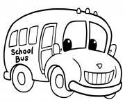 autobus scolaire dessin à colorier