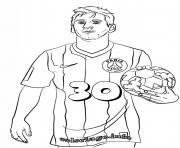 Lionel Messi PSG Paris Saint Germain 30 dessin à colorier